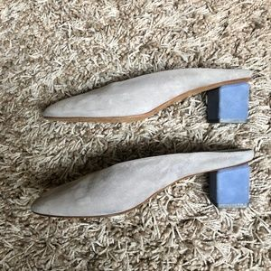 186c8617856db Gray Matters · MILDRED MULE Suede Gray/Sky Blue (EU39)